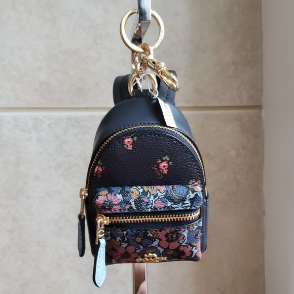 ec1f0845aed Coach backpack coin case keyring in floral print